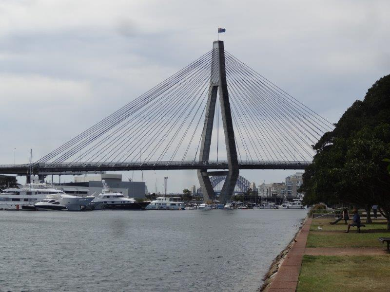 View of Anzac Bridge
