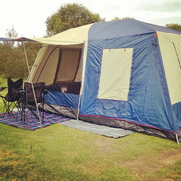 Our Camping tent all set up