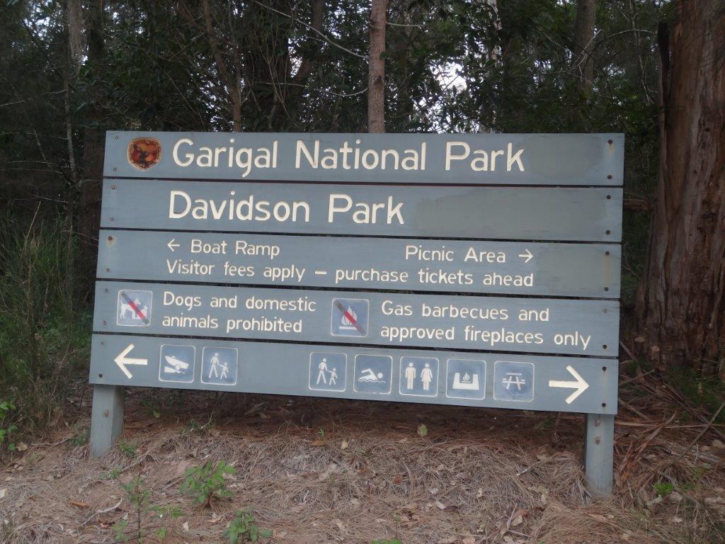 Davidson Park Picnic Area Signpost