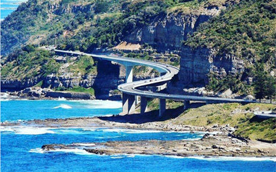 Sea Cliff Bridge: the most beautiful coastal bridge in New South Wales, Australia