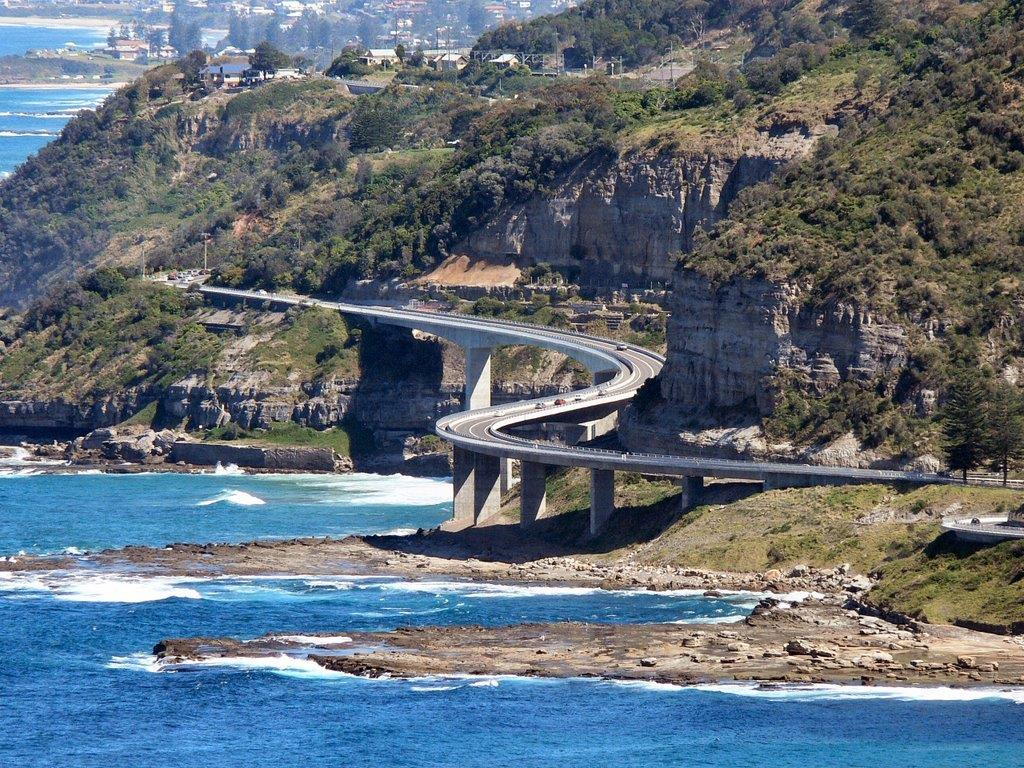 Sea Cliff Bridge - view from Bald hill lookout point