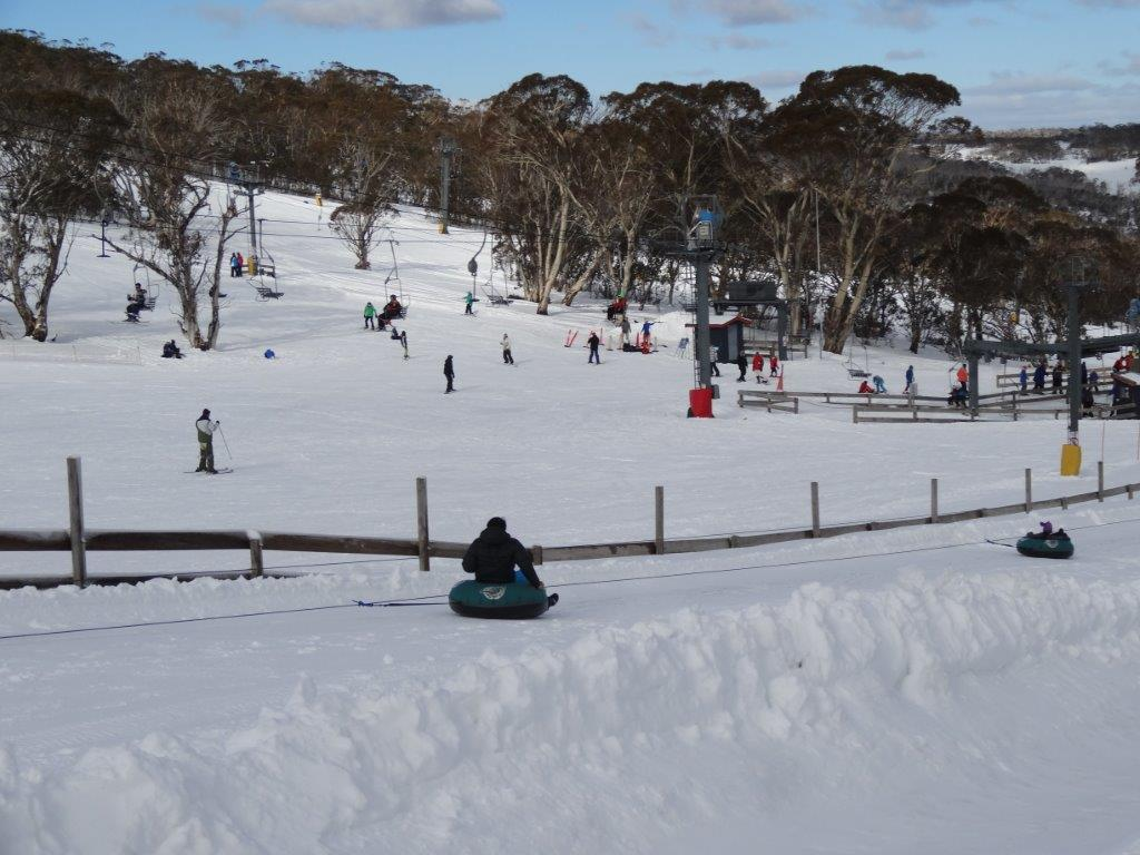lift ride back up snowtube park at Mt Selwyn