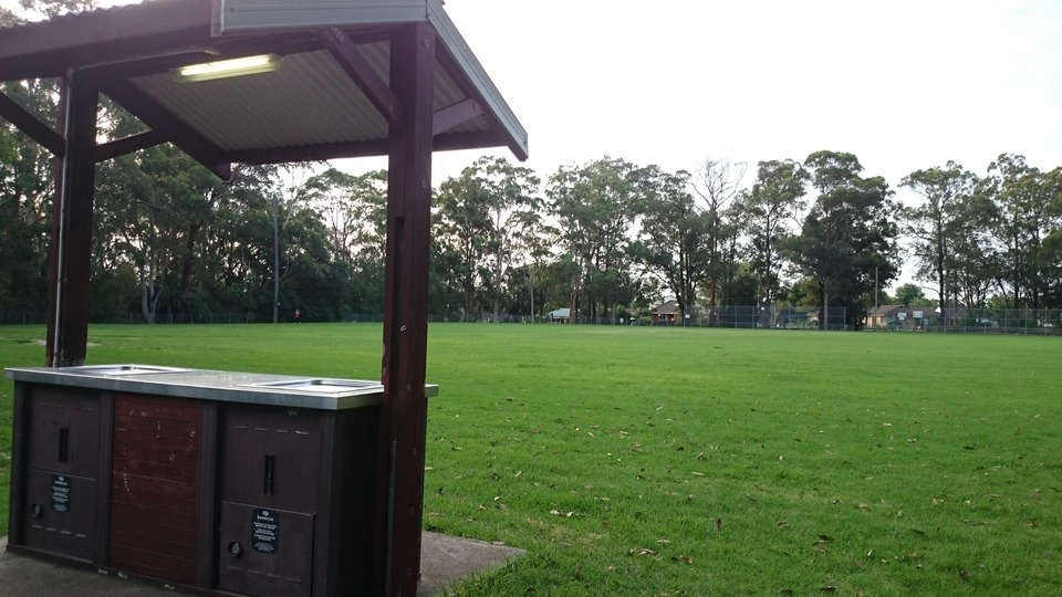 BBQ Area next to Playground