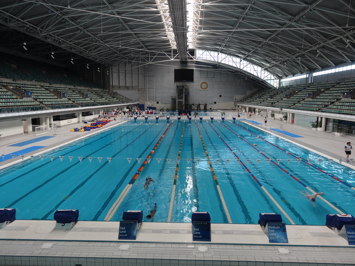Sydney olympic park aquatic centre is the best in sydney for Olympic swimming pool pictures