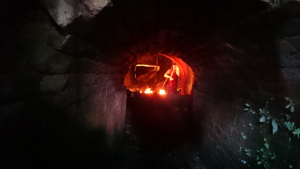 Looking inside at one of the Coalmines