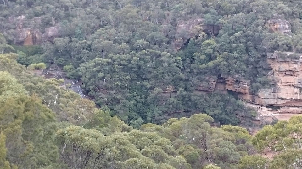 views from Wentworth Falls lookout - you can catch a glimpse of the falls