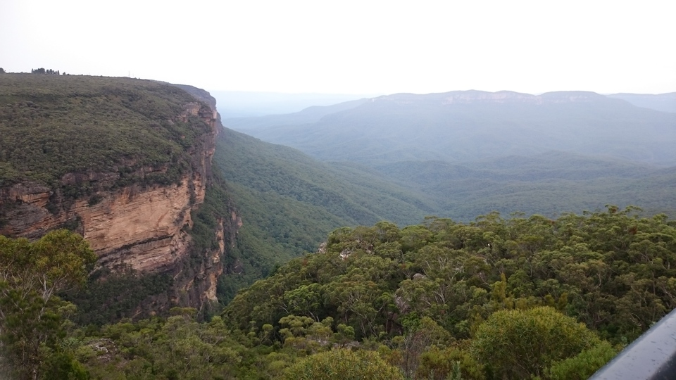 views from the Wentworth Falls lookout point