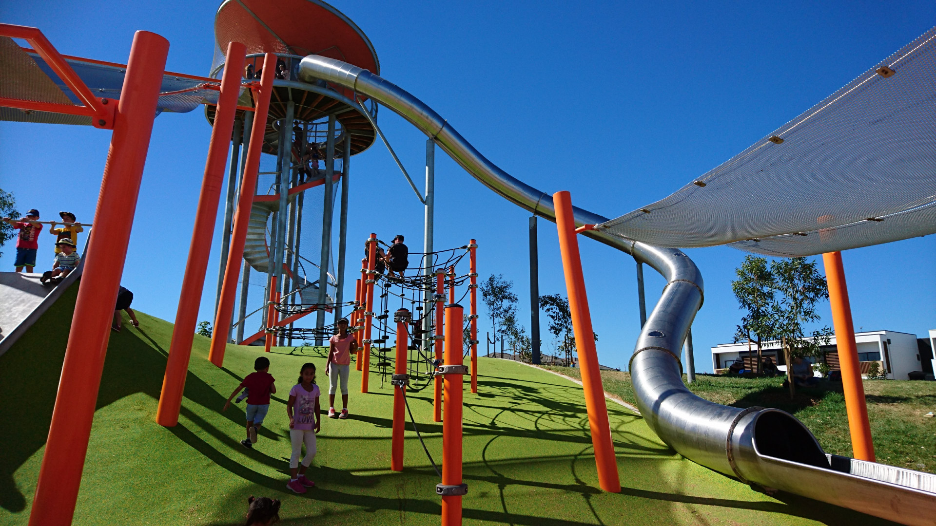 Mega slide at Altrove Hilltop Park