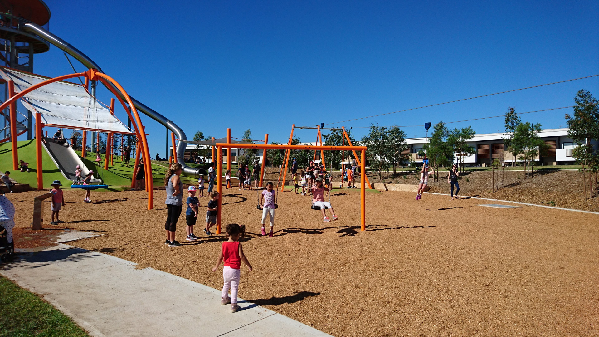 set of swings at Altrove Schofields park