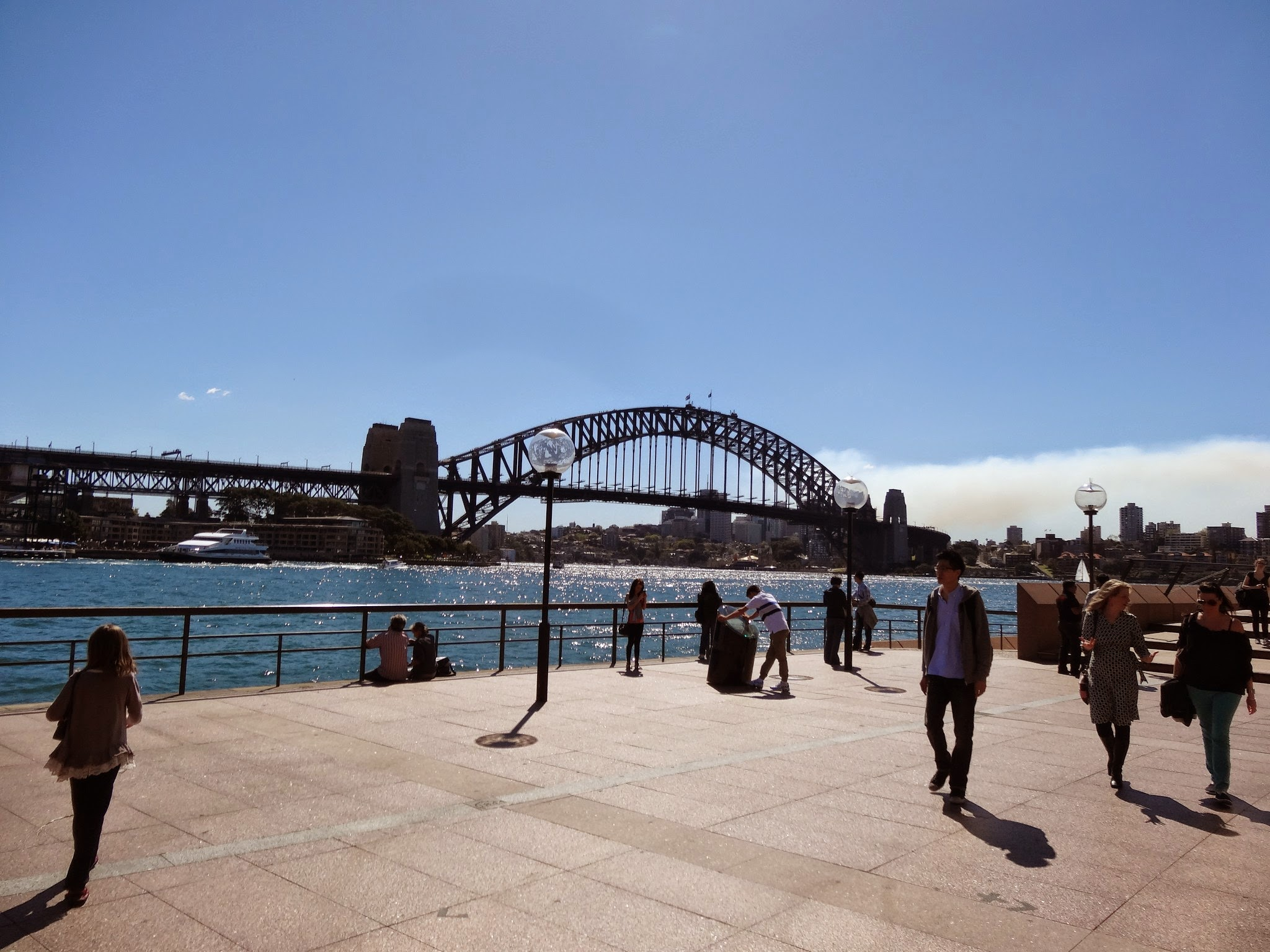 View of the Sydney Harbour Bridge from Circular Quay
