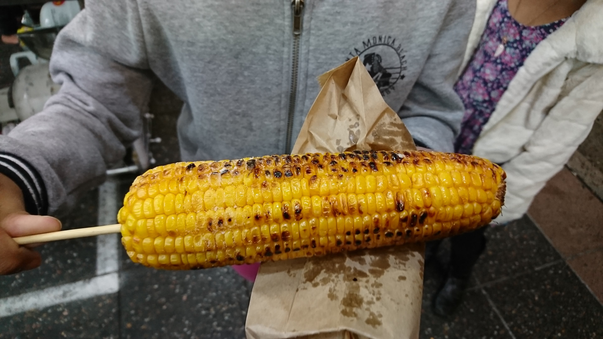 The perfect side dish - char-grilled corn on the cob.