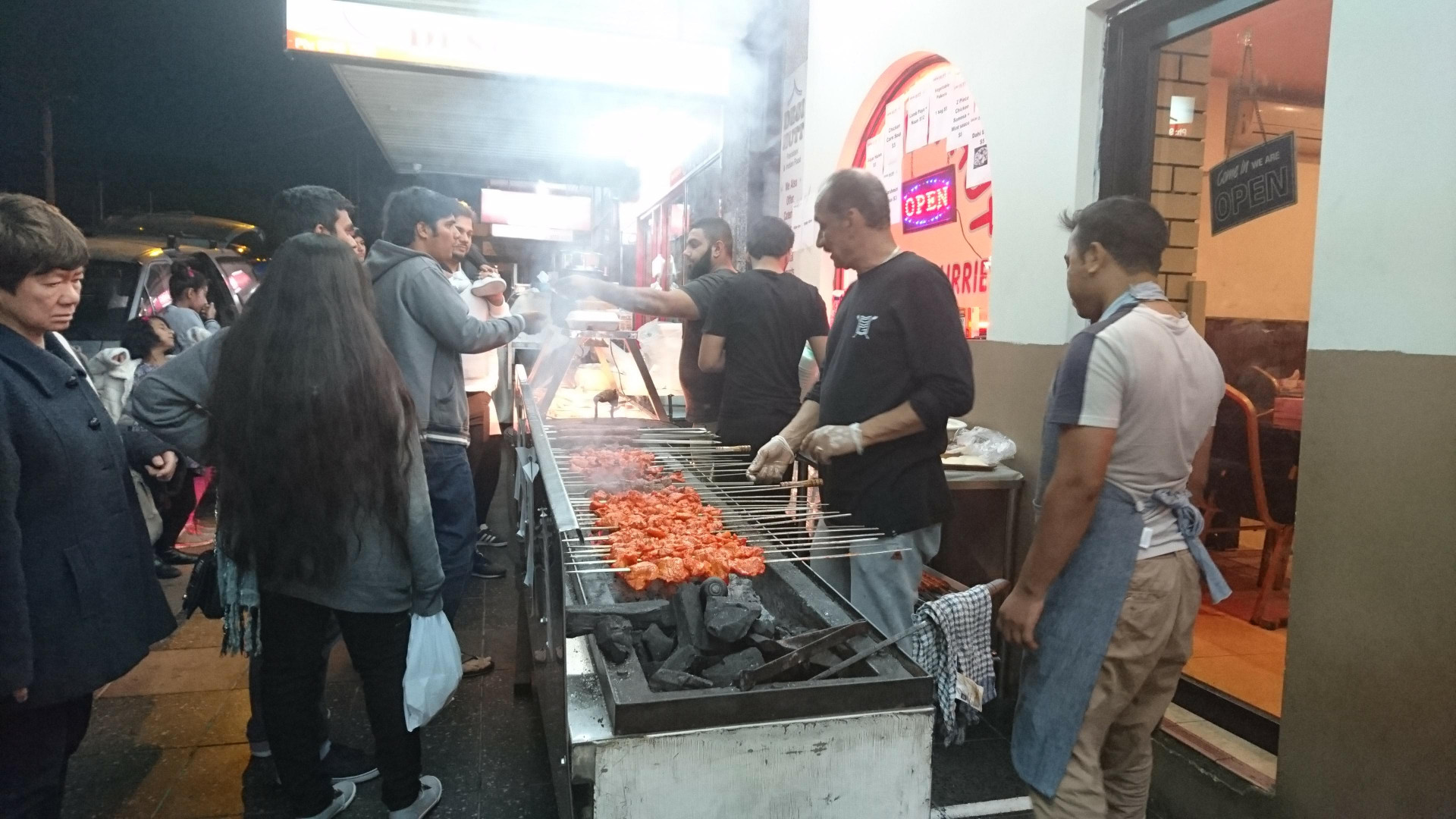 seekh kebabs on a charcoal bbq