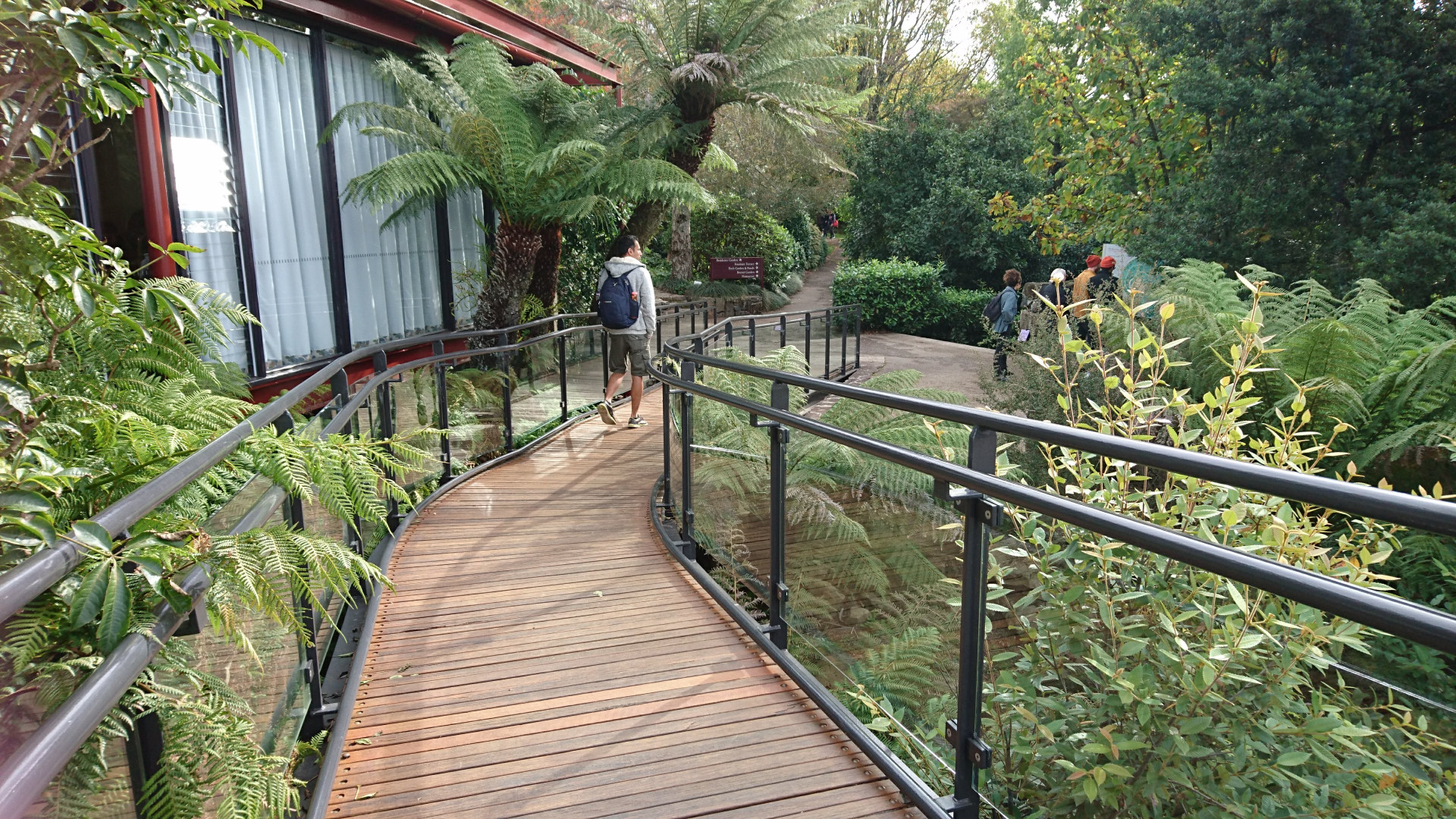 Heading off towards the residence garden at Mount Tomah