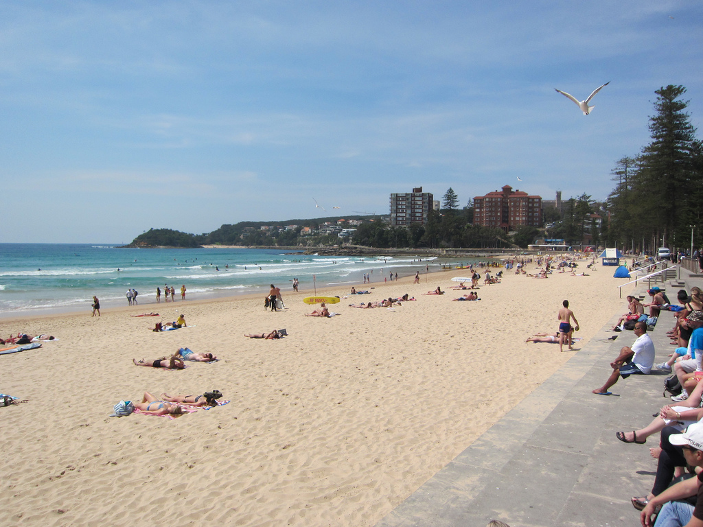 At Manly Beach - these steps are the perfect place to watch the tides roll in