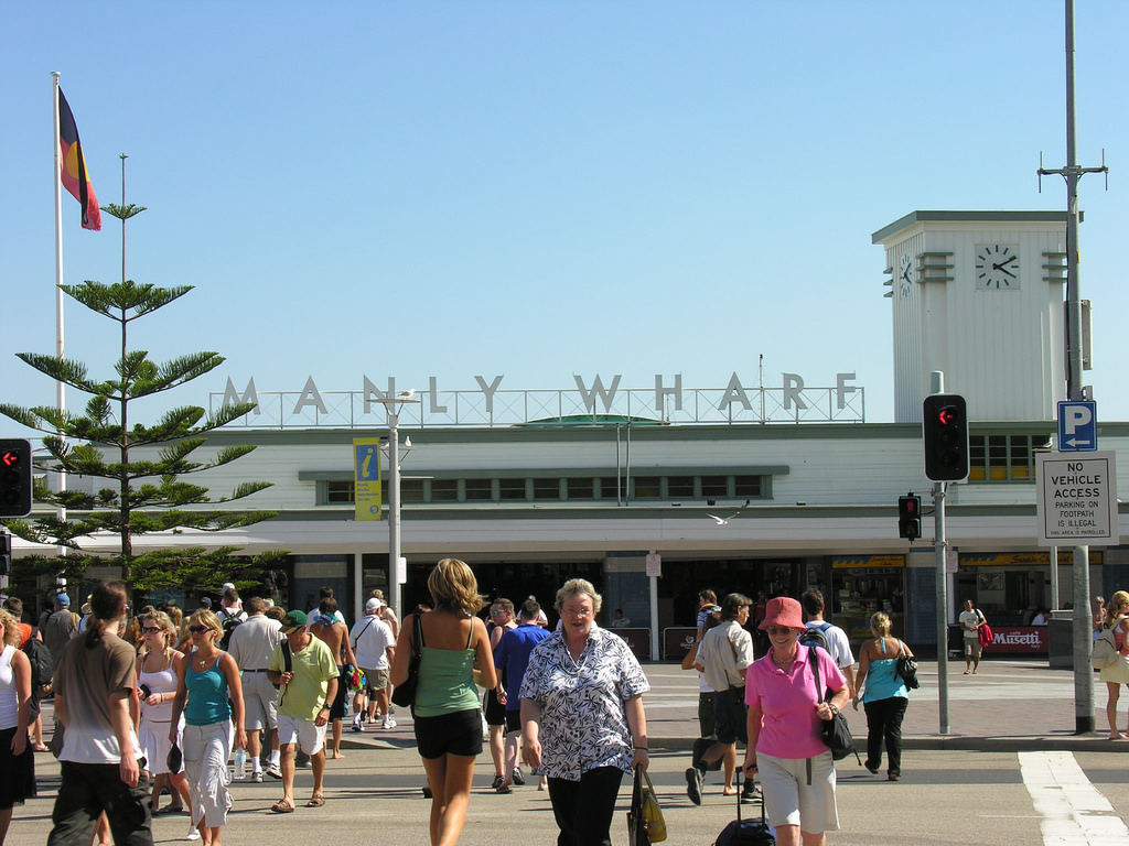 Outside the Manly Wharf