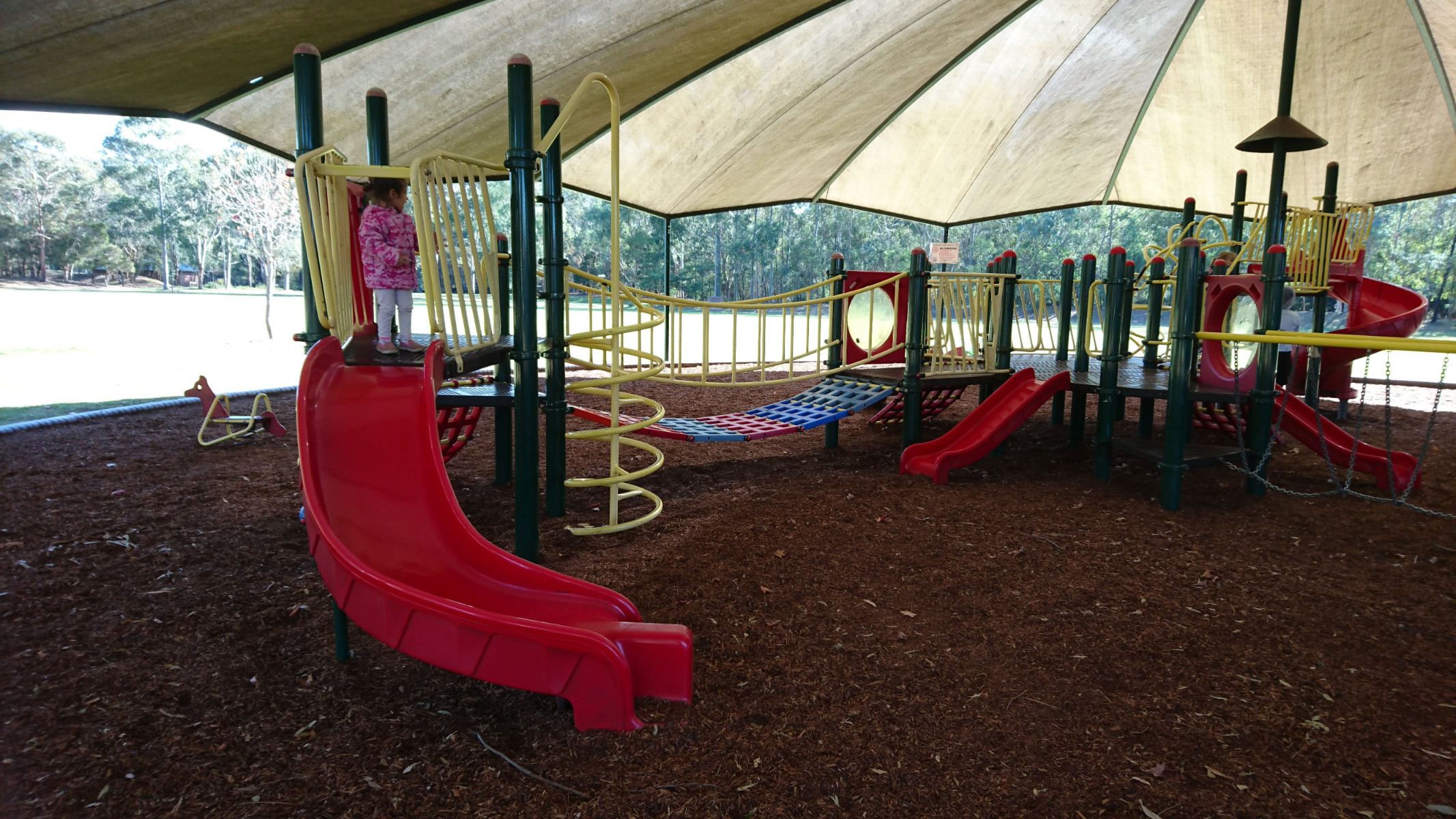 playground from a different angle. Great for younger kids and fully shaded!