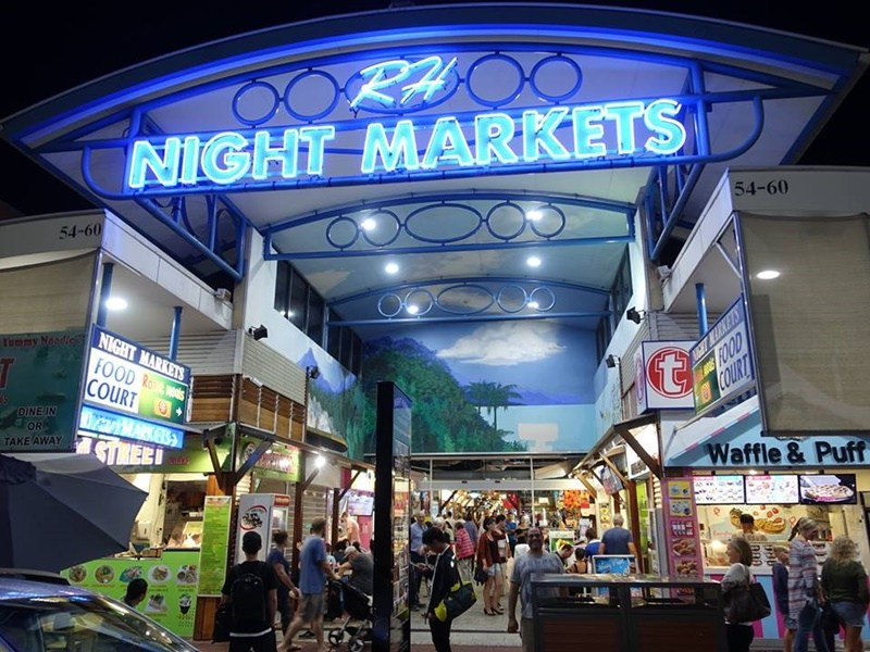 Cairns night market is open everyday of the week from 4:30am to 11pm